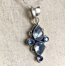 tranquil tanzanite blue pendant necklace one of a kind