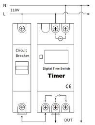 din rail mounted programmable digital timer switch