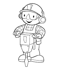 Small Picture Bob the builder working coloring page