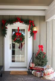 Christmas Decorating Ideas - Decorating the Front Door I like the tree in  the wagon