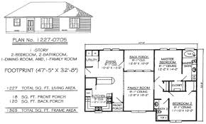 1 Story 2 Bedroom House Plans Photo   2