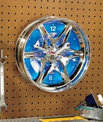 An ideal accessory for a garage or work shop, this Hub Wall Clock with LED