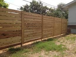 horizontal privacy fence simple