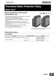 K8ak Ts Pt Omron Pdf Catalogs Technical Documentation