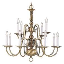 livex lighting providence 12 light antique brass chandelier