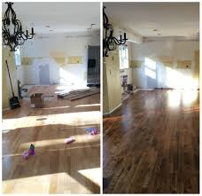 Hardwood Floor In The Kitchen Kitchen Progress Staining Hardwood Floors Jenna Burger