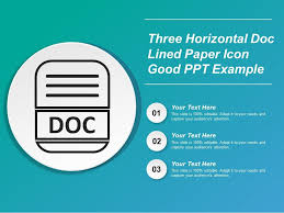 Three Horizontal Doc Lined Paper Icon Good Ppt Example