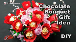 Ferrero Rocher Bouquet Designs How To Make A Chocolates Bouquet Ferrero Rocher Candy Stand Festival Gift Idea Jk Arts 1181