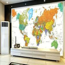 wall mural map of the world custom world map wallpaper for walls office living room backdrop