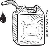 can clipart black and white. gas can sketch - doodle style gasoline illustration in. clipart black and white p
