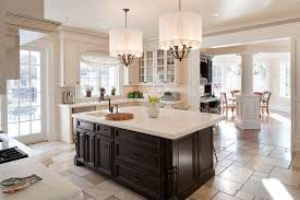 contemporary kitchen floor tile designs. contemporary kitchen with flat panel cabinets, simple marble counters, u-shaped, floor tile designs