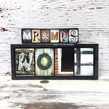 wedding gift mr and mrs last name wood sign photo letter wall art on wall art letters wood with wedding gift mr and mrs last name wood sign photo letter wall art
