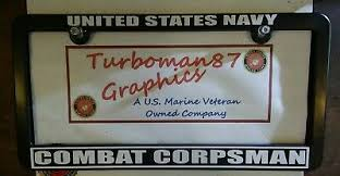 Combat Corpsman Us Navy Combat Corpsman License Plate Frame Usn Seals Recon