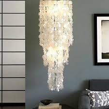 long hanging capiz pendant lighting 10438