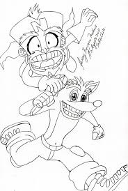 Small Picture Crash Bandicoot Coloring PagesBandicootPrintable Coloring Pages