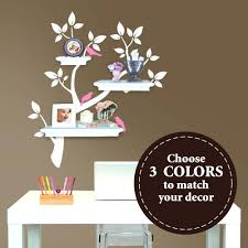 shelving tree wall decal tree branch decal with birds for floating shelves  the zoom wall decals