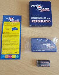 Pepsi Chart Exclusives Fm Autoscan Pocket Radio Unused Prop