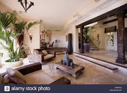 Living Room Spanish Interior Design Modern Spanish Villa Living Room At Dusk Stock Photo