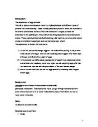 Diffusion And Osmosis Lab Report Lab Report On Diffusion And Osmosis Matrix Education