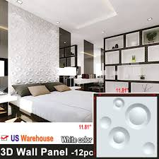 Pvc Panel Design For Bedroom Details About 3d Wall Panels 12pcs White Home 3d Wall Decoration Diy Pvc Wall Decor 11 81