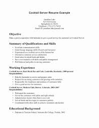 Cocktail Waitress Resume Sample Waitress Resume Example Beautiful Cocktail Waitress Resume Sample 1