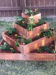 tiered cedar raised garden bed cedar