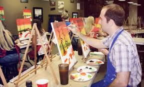 groupon two or three hour byob painting class for one or two at