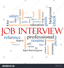Job Interview Word Cloud Concept Great Stock Illustration