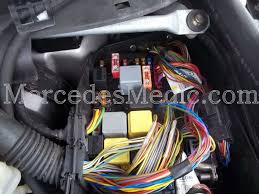 S Cl Class W220 Fuses And Relays Location Designation 2000