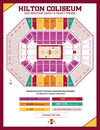 Cyclones Hockey Seating Chart Facility Seating Charts Iowa State University Athletics