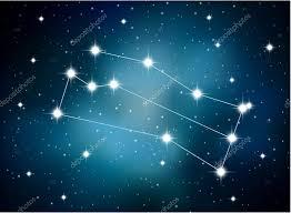 Horoskop Znamení Blíženců Na Pozadí Astrologické Prostor Stock