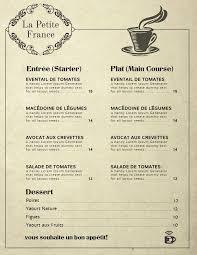 Cafe Menu Template Vintage French Cafe Menu Template French Cafe Menu
