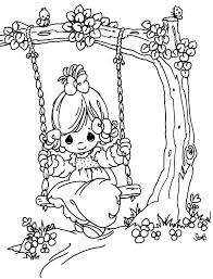 Small Picture swing in a tree precious moments coloring