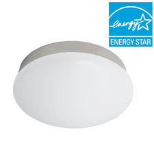 bright cool white brushed nickel integrated led flushmount ceiling light lampholder bulb replacement fixture
