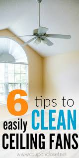cleaning ceiling fans tips