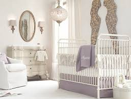 Kids Room Design: Elegant Pink White Gray Baby Girl Room - Stylish Nursery