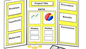 Tri Fold Project Board Presentation Fold Board Template Fold
