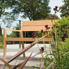 Small Picture alexander rose modern hardwood 4ft garden bench in roble hardwood