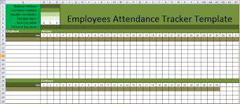 attendance spreadsheet excel employee attendance calendar tracker templates 2016