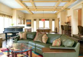 ceiling ideas for living room paneled ceiling and colorful decor help create this unique living room