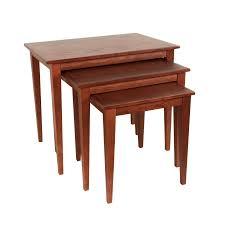 oak wood nesting tables  set of  (dotandbocom) (oak wood