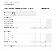 Profit And Loss Statments 11 Profit Loss Statement Samples Tripevent Co