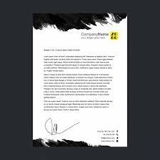 Black And White Letterhead Letterhead Template Design Vector Free Download