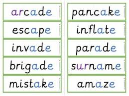 When a child attempts to work out an unknown word, s/he will need to be able to identify the. Ae Split Digraph Worksheets And Games Galactic Phonics