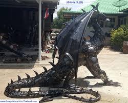 dragon garden statues. Metal Animal Art Garden Sculpture Horse, Dog, Bird, Dragon Statue/sculpture, Life Size Made From Scrap Statues