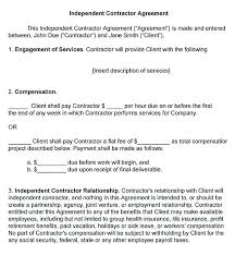 Subcontractor Contract Template Gorgeous Contractor Contract Template
