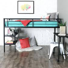 Loft Beds: Queen Size Loft Bed With Desk Full Plans Stairs And Beds For A