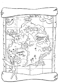 Small Picture Treasure Map Coloring Page Activity Could work in party favor