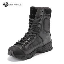 military army boots men black leather desert combat work shoes winter mens ankle tactical boot man plus size malaysia