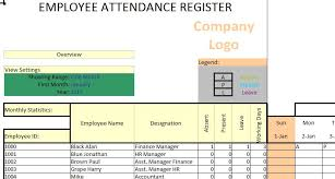 Employee Attendance Tracker Ms Excel Template 2019 Excel124